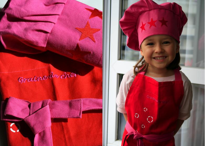 Tablier de cuisine pour enfant les d lices d 39 anais for Tuto tablier cuisine enfant