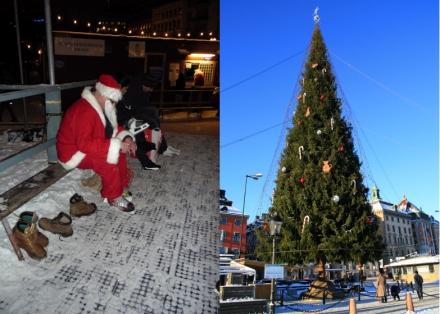 Les décorations de Noël dans le quartier