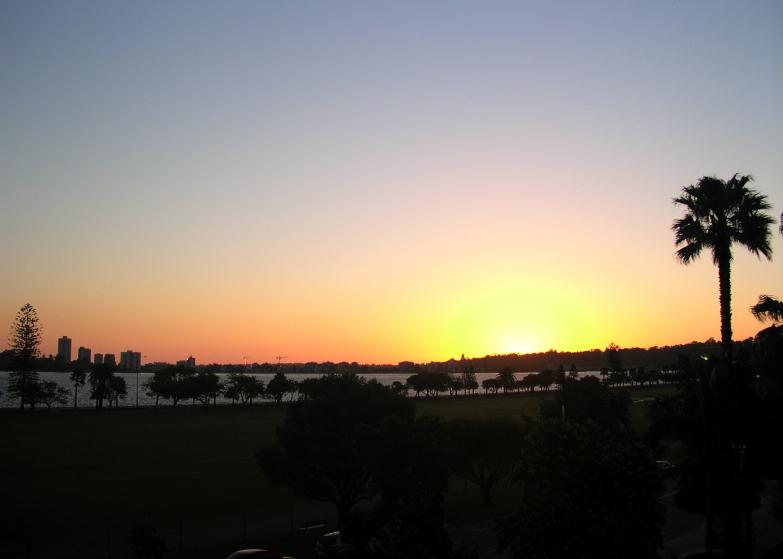 Couché de soleil sur Perth