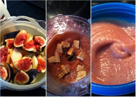 Compote de figues, pomme et biscuits à la pomme