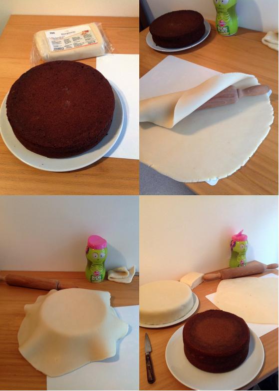Le gâteau d'anniversaire château de la belle au bois dormant – tutoriel #3 le montage et la touche finale (3/6)