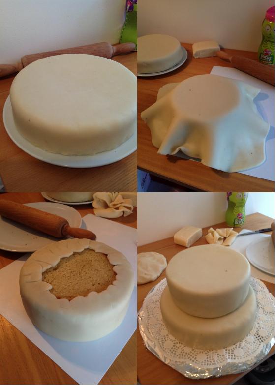 Le gâteau d'anniversaire château de la belle au bois dormant – tutoriel #3 le montage et la touche finale (4/6)