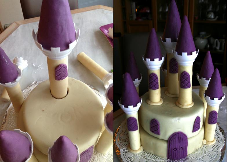 Le gâteau d'anniversaire château de la belle au bois dormant – tutoriel #3 le montage et la touche finale (6/6)