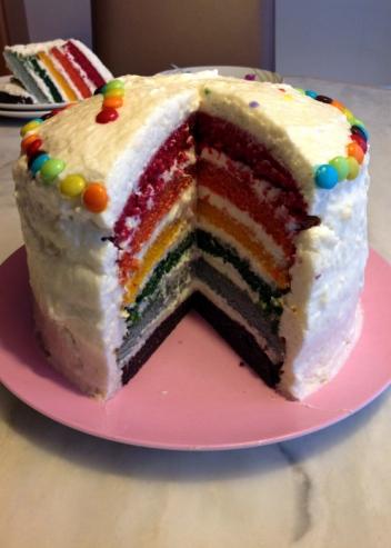 Mon gâteau arc en ciel