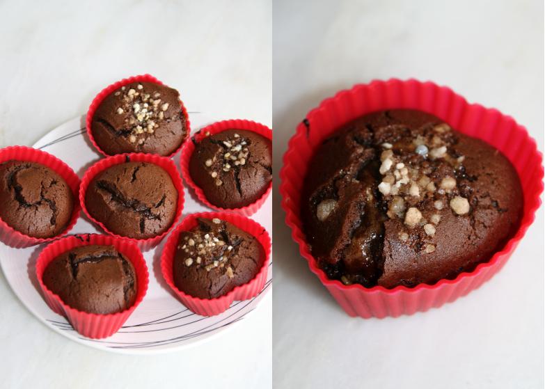 Recette De Mini Fondants Chocolat Au Cœur Caramel Petillant Les