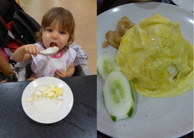 Le plat préféré de bébé : riz - omelette