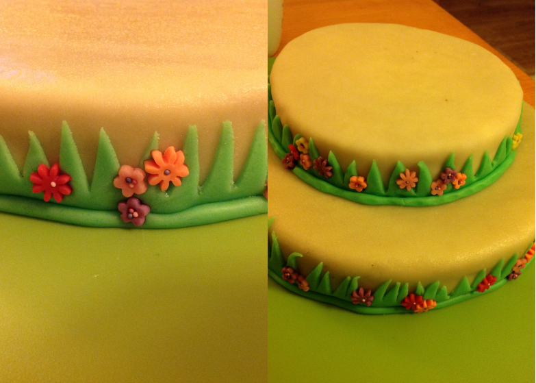 Le g teau d anniversaire barbapapa 3 la d coration du for Decoration gateau pate a sucre