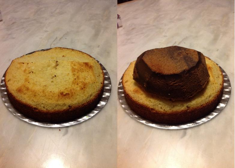 Le gâteau d'anniversaire la reine des neiges #2 les préparatifs et la montagne de neige (5/6)