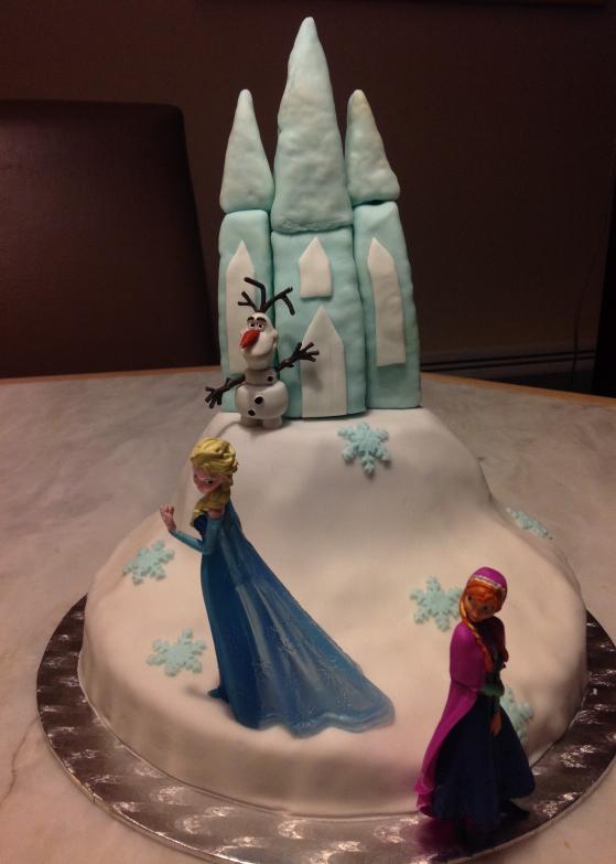 Le gâteau d'anniversaire la reine des neiges #4 - les flocons et la touche finale. (5/5)