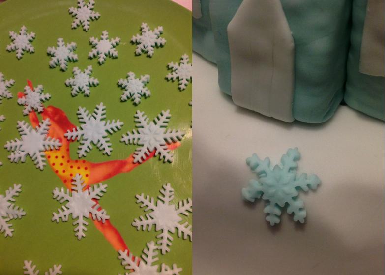 Le gâteau d'anniversaire la reine des neiges #4 - les flocons et la touche finale. (2/5)