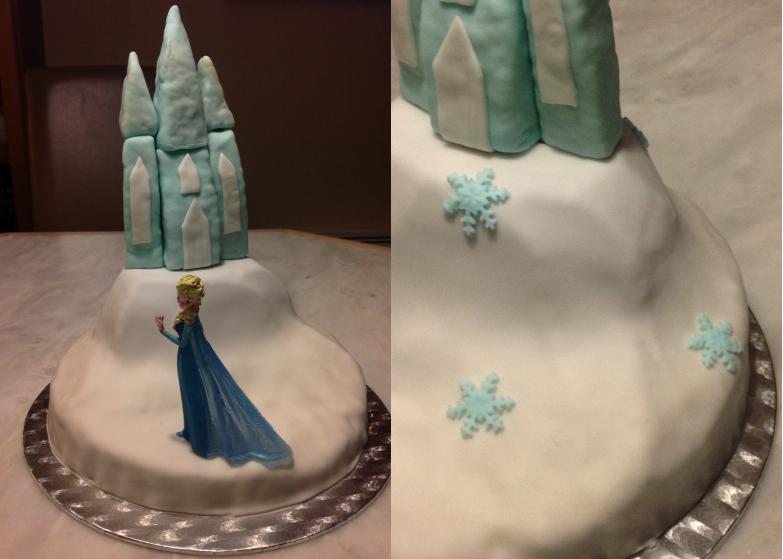 Le gâteau d'anniversaire la reine des neiges #4 - les flocons et la touche finale. (3/5)