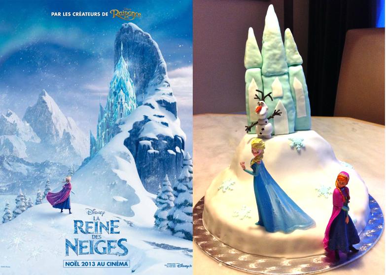 Le gâteau d'anniversaire la reine des neiges #4 - les flocons et la touche finale. (1/5)
