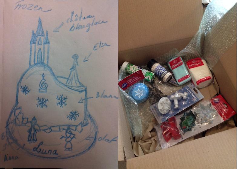 Le gâteau d'anniversaire la reine des neiges #2 les préparatifs et la montagne de neige (2/6)