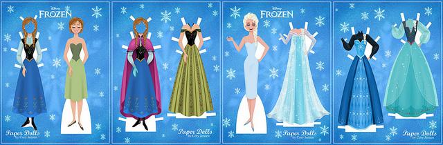 Reine-des-neiges-Paper-dolls-Disney
