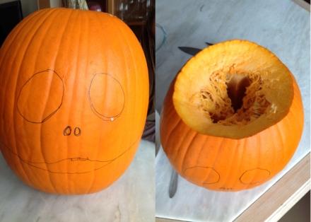 Notre citrouille jack pour halloween les d lices d 39 anais - Comment vider une citrouille ...