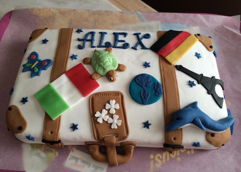 Le gâteau d'anniversaire valise de voyages (tutoriel) #2 – Les préparatifs (1/6)