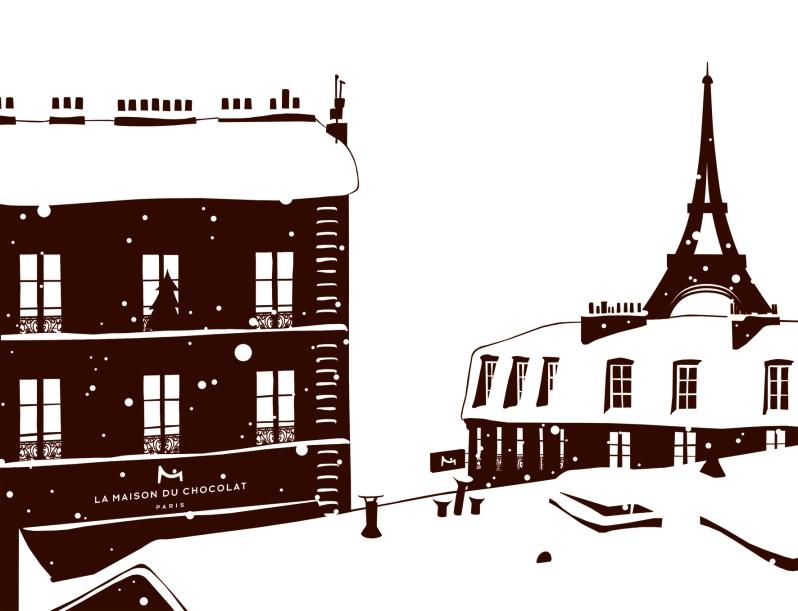 PARIS SOUS LA NEIGE Illustration ©Declerc Marie