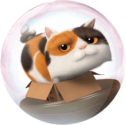 FILM_Animation_En_route_dreamworks_Bulle_Chat