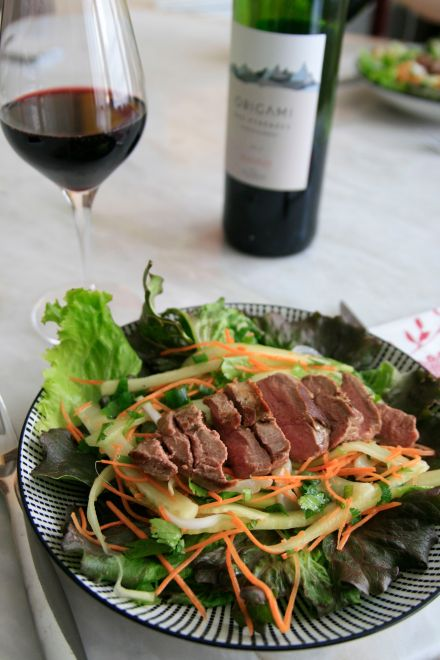 LDDA_Recette_Salade_pave_canard_facon_Thai_Madiran