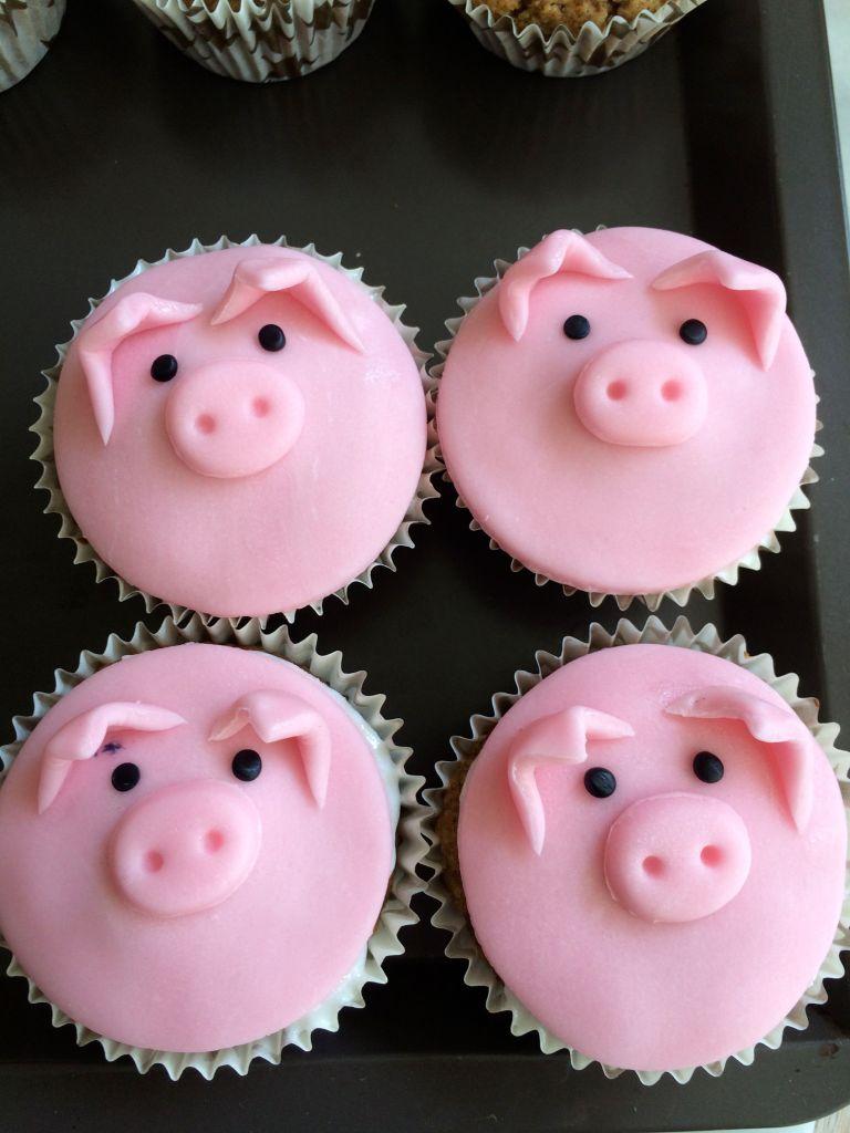 Cupcake_animaux_ferme_cochon