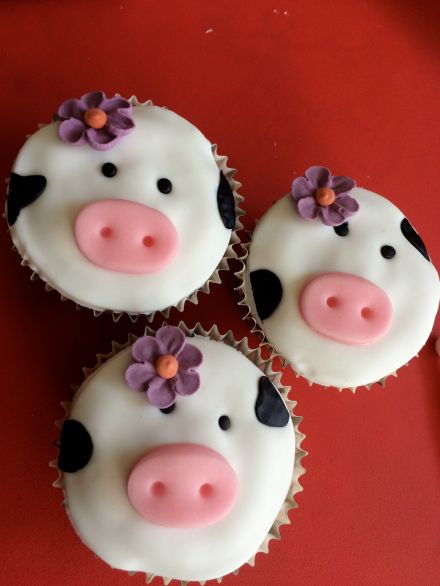 Cupcake_animaux_ferme_vache