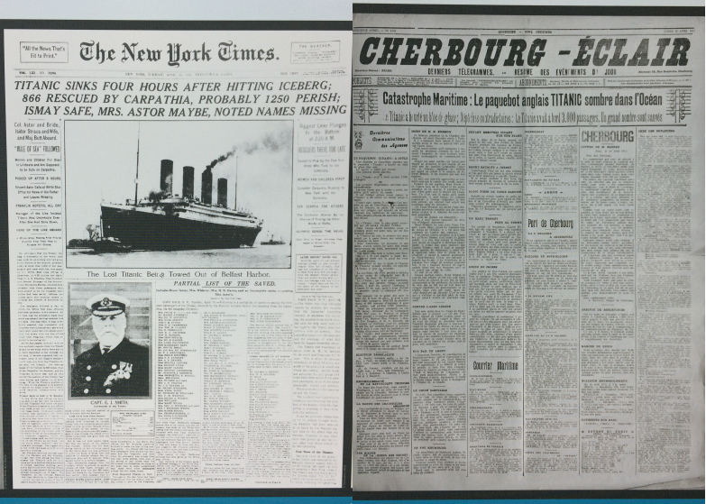 La_cite_de_la_mer_Expo_Titanic_Journaux