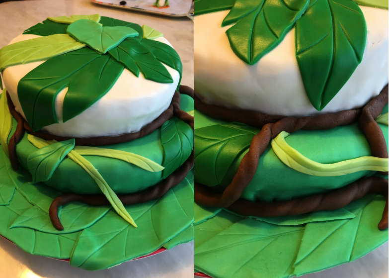 LDDA_Gateau_Anniversaire_Rainforest_Grenouille_Cakedesign_09