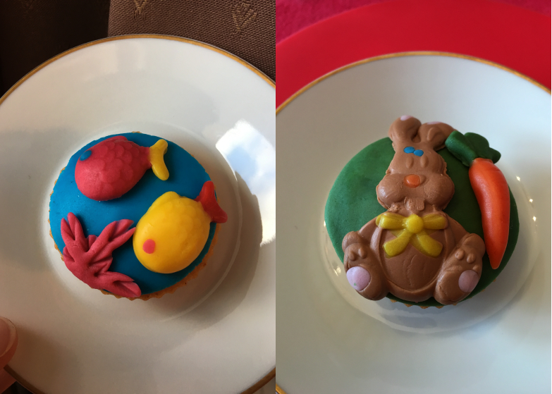Paques_CakeDesign_Cupcake_lapin_poissons